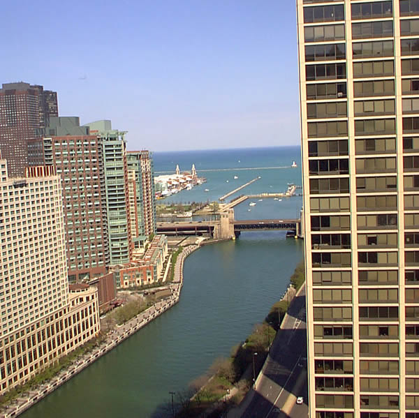 Chicago Hotel Room View